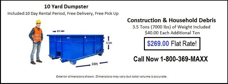 10 Yard Oklahoma City Dumpster Rentals