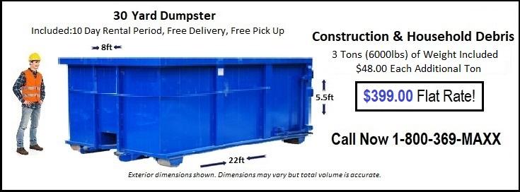 30 Yard Des Moines Dumpster Rentals