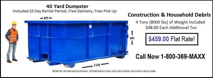 40 Yard Des Moines Dumpster Rentals