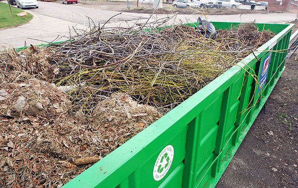 Yard waste dumpster