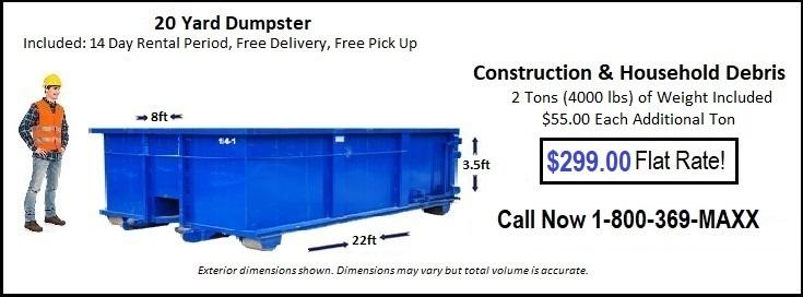 15 Yard Omaha Dumpster Rental