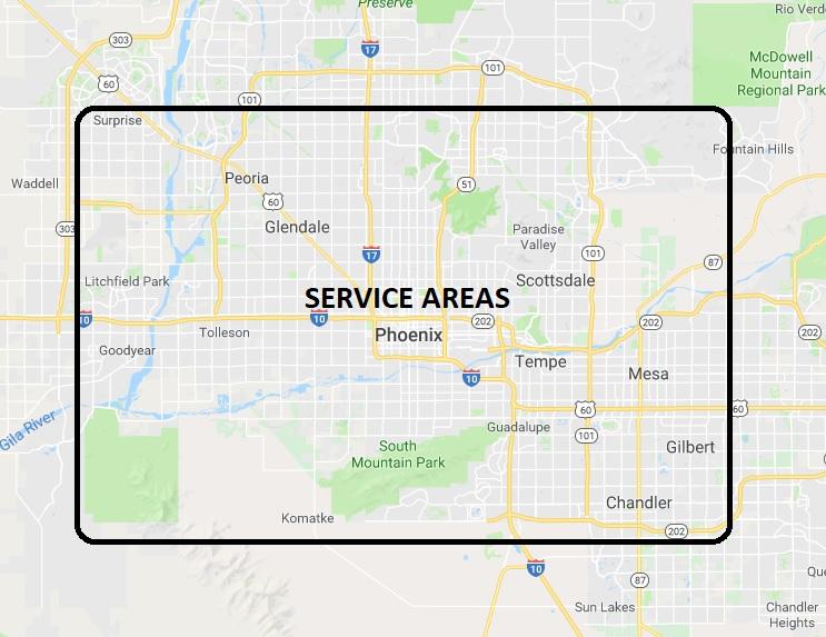 Phoenix Dumpster Rentals Map