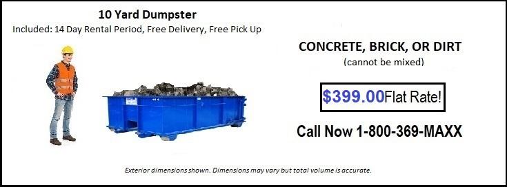 10 -Yard-CONCRETE-Phoenix-Dumpster-Rental-Dumpstermaxx